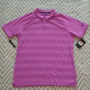 Nike Golf Zonal Cooling Pink Polo Shirt Large